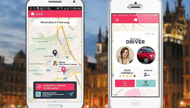 L'appli mobile de Djump