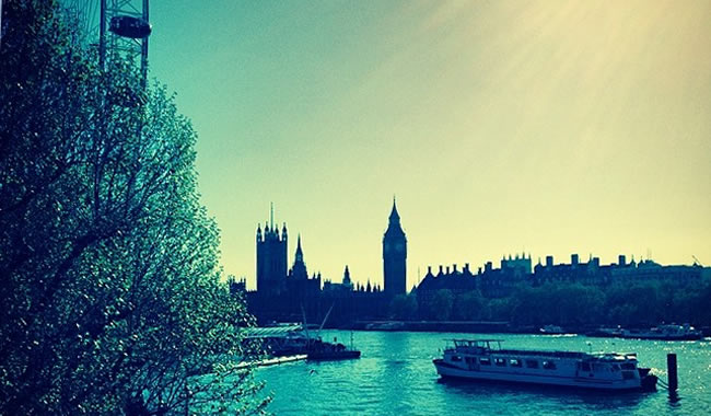 View of Big Ben and the Thames…