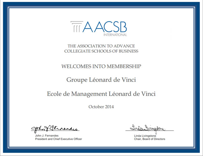 aacsb - EMLV is now a member of AACSB International - The Association to Advance Collegiate Schools of Business