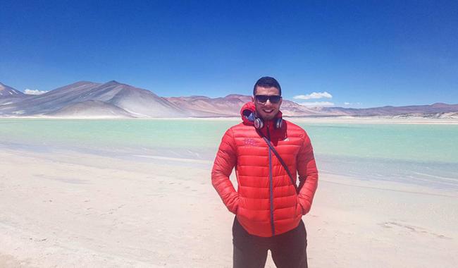 Mehdi-Lias Mekhneche, étudiant de l'EMLV en stage à Santiago du Chili