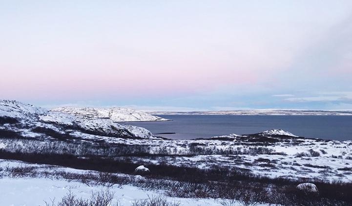 Paysage norvégien, Kahina, en échange à LAMK
