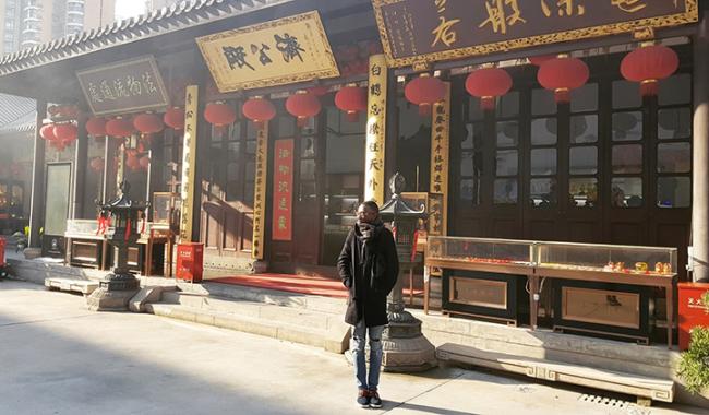 Patrice, en échange à Shanghai Normal University