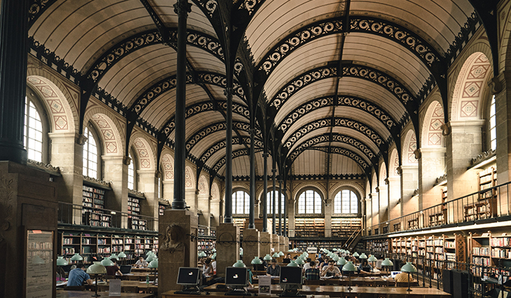 Study in one of Paris many libraries