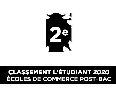 classement ecole commerce l'etudiant 2020
