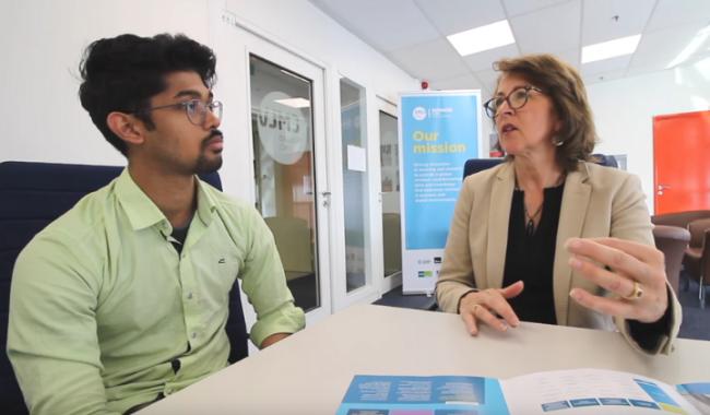 Nikhilesh interview with Jill MSc International Business