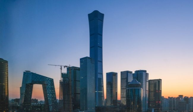 China, Beijing skyscrapers