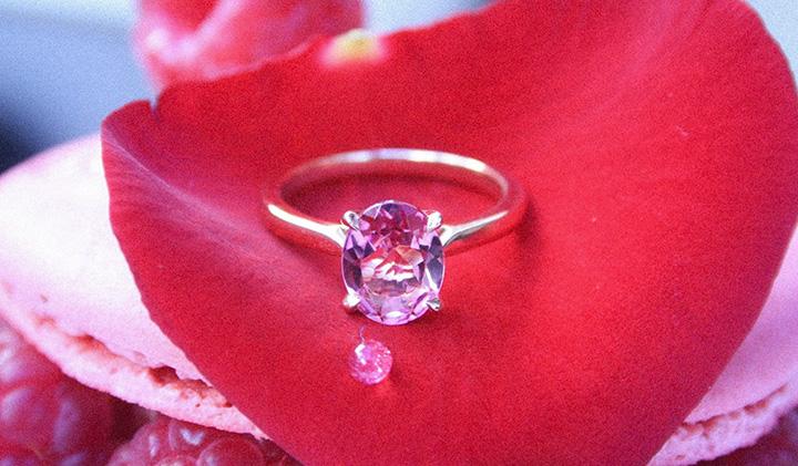 Bague or rose Manal  - Trouvez une idée originale pour la Saint Valentin avec les start-up du Pôle Léonard de Vinci