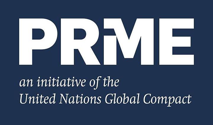 PRME logo - L'EMLV, membre du réseau des écoles PRME, un label de l'ONU pour encourager la responsabilité sociétale