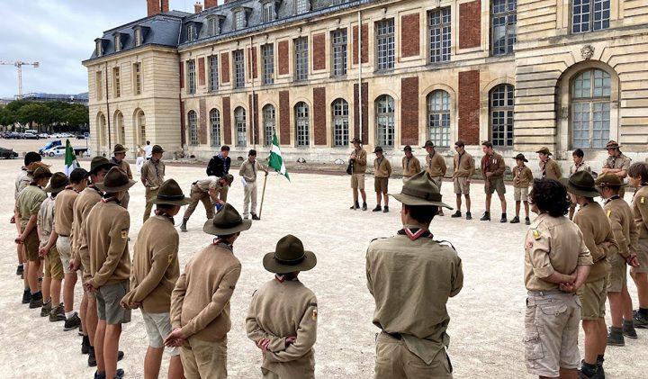 Rassembleent fin camp Versailles 720x421 - Vladimir, promo 2024, une mission solidaire avec les Scouts Unitaires de France